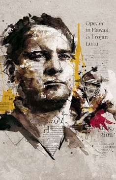 Florian Nicolle (aka Neo) is 23 year old illustrator and graphic artist from France. Recently I ran across his work and loved the raw edginess of his portraits. His expressive use of line, textural layers and color sings out. Political Art, Political Events, Abstract Portrait, Gcse Art, Art Graphique, Sports Art, Pictures To Draw, Oeuvre D'art, Graphic Design Inspiration
