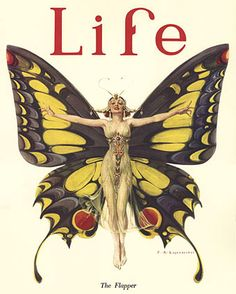 """Life"" magazine cover - ""The Flapper"" by Frank X. Leyendecker - February 2, 1922"