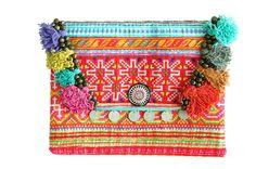 - Tassel Hmong clutch - Boho