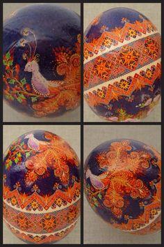 Pysanky, Pysanka Ostrich Egg by Ulyana