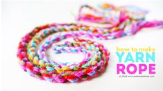 Yarn Craft Idea: How to Make Yarn Rope - Babble Dabble Do Crochet Hook Sizes, Crochet Yarn, Crochet Hooks, Easy Crafts For Kids, Art For Kids, Yarn Crafts, Sewing Crafts, Babble Dabble Do, How To Make Rope