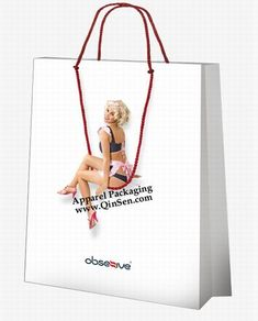 Fancy Design Idea for Lingerie Shopping Bag Use your Lingerie Model replace for this design.Promot your luxury lingerie quickly.  We manufacture and export various Lingerie Shopping Bag with your brand/logo/artwork quality.  copy from [www.QinSen.com]