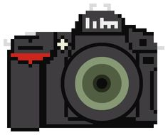 NIKON DSLR: A collection of 100 pixelated camera illustrations for anybody to download and use in whatever way they see fit by Billy Brown