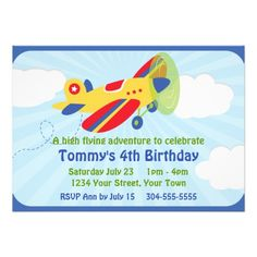 430 best airplane birthday party invitations images on pinterest in