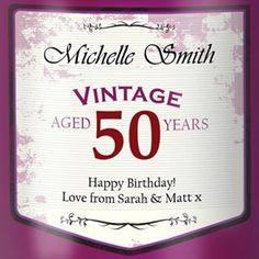 1000 images about graphic wine retro labels on pinterest With 50th birthday wine label templates