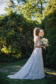 Long-Sleeved Wedding Dress