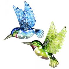 Set 4 Outdoor Metal Hummingbirds Wall Hanging $199.95
