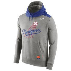 Los Angeles Dodgers Nike Cooperstown Collection Hybrid Pullover Hoodie - Gray - $67.99