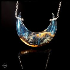 Phantom Crystal Moon Necklace #statement #pendant #glowing