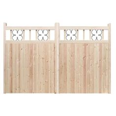 Driveway gates - The Redwood. Constructed by hand in the UK using the finest Redwood Pine. Made to measure. Huge range of designs to choose from.