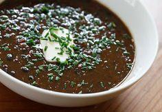 A lo natural: Sopa de frijoles negros - Una sopa 100% vegetarian...