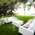 Destin Wedding Venues  ||  Destin Bay House in Destin FL  ||  Outdoor wedding and reception venue on the water, with a dock