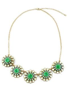 Free Shipping World Wide Delivery:5-15Days       Shape\pattern :Flower     Types :Chains Necklaces     Stone Color :Green     Styles :Fashion     Metal Color :Glod     Stone Type :Gemstone SKU:necklaceNC527401