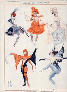 Love the Harley-esque costume in the lower left.  La Vie Parisienne