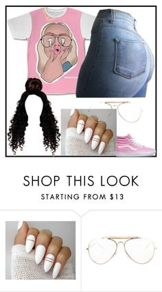 """💋"" by tylabest138 ❤ liked on Polyvore featuring CÉLINE and Vans"