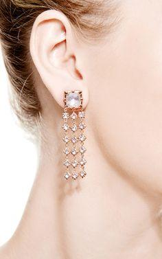 Large Bella Waterfall Earrings In Pink by Larkspur & Hawk for Preorder on Moda Operandi