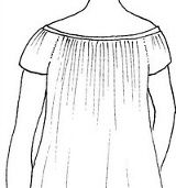Draft your own chemise using Elizabeth Stewart Clark's free article, making a chemise to fit your own body.  Fantastic resource!