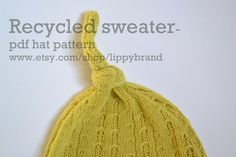 Image result for Recycled Sweater Hats Patterns
