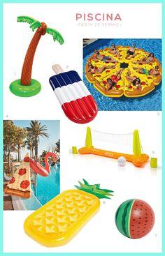 Esenciales para una fiesta de verano perfecta.  Más en The Creative Jungle