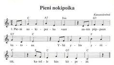 PIENI NOKIPOIKA Song Notes, Ukulele, Piano, Sheet Music, Songs, Music Score, Music Notes, Song Books, Pianos