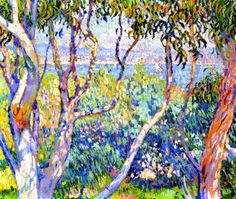 ☼ Painterly Landscape Escape ☼ landscape painting by Theo van Rysselberghe | Eucalyptus, at Saint-Tropez, 1906