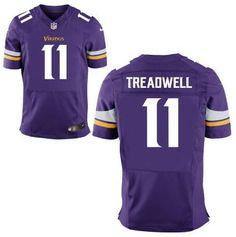 Men's Minnesota Vikings #11 Laquon Treadwell Nike Purple Elite 2016 Draft Pick Jersey