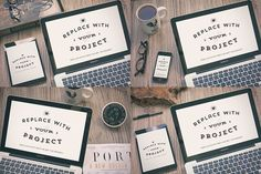 Hipster Style Mockup Templates on Behance