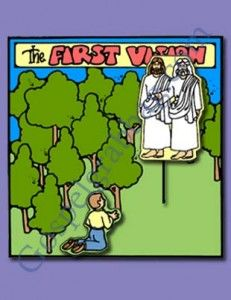 FIRST VISION: Primary 3 CTR-B, Lesson 5, Primary 3 Manual, The First Vision, Primary Lesson Helps, Sunday Savers book or CD-ROM, Gospel Grab...