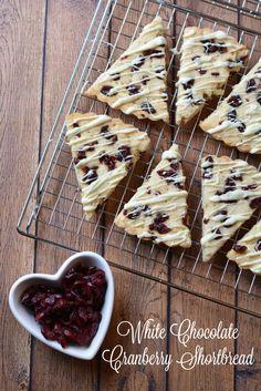 White Chocolate Cranberry Shortbread Recipe