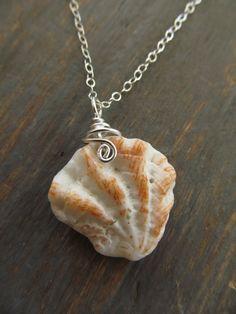Minimalist Sea Shell Necklace - Sterling Silver - Beach Jewelry. $26.00, via Etsy.