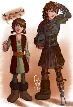 fem!hiccup | Tumblr -  Artist: juliajm15