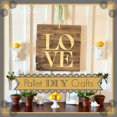 DIY: How to make your own pallet art! I love the look of pallet art and this has inspired me to make my own. Love this by @Beth J J Hunter