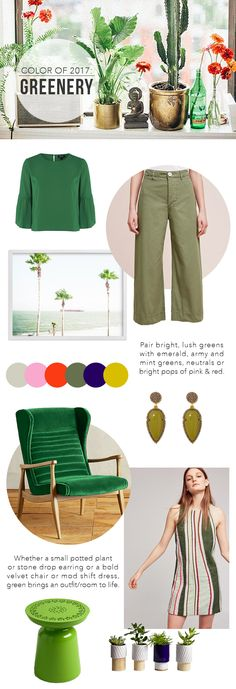 The Steele Maiden: How to incorporate Pantone's Color of 2017 - Greenery into home and wardrobe