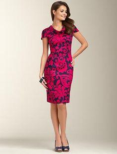 Talbots: Floral Scroll Dress