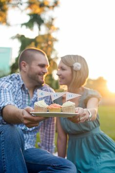 Save the date, cupcakes, engagement photos, wedding