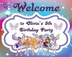 Custom, Personalized Winx Club Birthday Welcome Sign