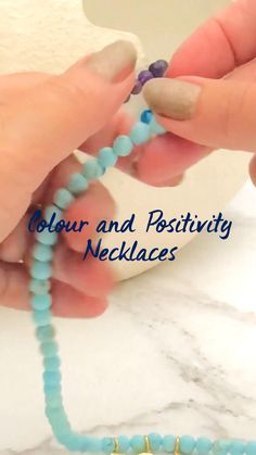Becca, Handmade Necklaces, Beaded Necklace, Positivity, Gemstones, Bracelets, Beading, Color, Jewelry