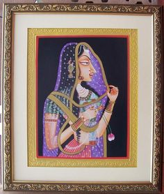 Paper Painting - - Elegant & Beautifull Paper painting Bani Thani, Art