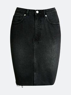 Svart Rainy denim skirt   Dame   Skjørt på BikBok.com Summer Looks, Denim Skirt, Fashion, Moda, Summer Fashions, Fashion Styles, Summer Outfits, Summer Clothes, Fashion Illustrations