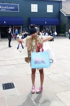 Susie Bubble at Bicester Village