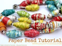Paper beads out of scrap paper or magazines...