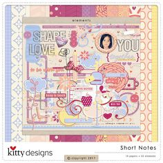 Short Notes Collection by Kitty Designs