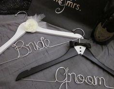 Bridal+hanger+set+Bride+and+Groom+by+EmilysEmporium1+on+Etsy,+$49.00