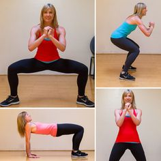 A No-Equipment Total-Body Workout For Any Space! Trying this tomorrow!