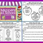 Manners at School: Each Set includes a page with reasons why we should use manners, and two student pages.