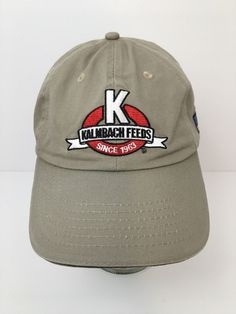 Kalmbach Feeds Baseball Cap Embroidered Logo Strapback Hat Khaki  KProducts   BaseballCap Strapback Hats 9b7546c597ed