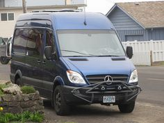 "Blue 144"" high roof Sprinter"