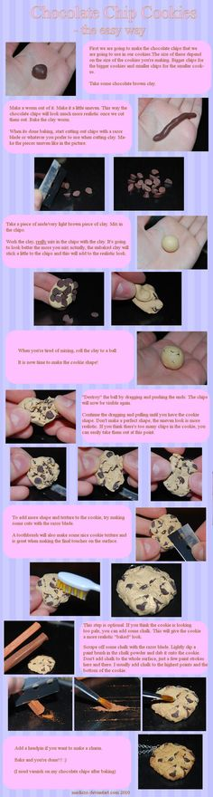 Chocolate Chip Cookie Tutorial by ~Madizzo on deviantART