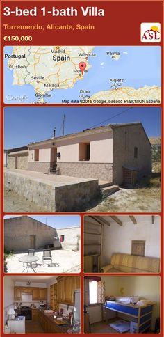3-bed 1-bath Villa in Torremendo, Alicante, Spain ►€150,000 #PropertyForSaleInSpain