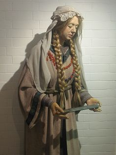 Anglo-Saxon Woman, Dover Museum - Women in Anglo-Saxon England were near equal companions to the males in their lives, such as husbands and brothers, much more than in any other era before modern time